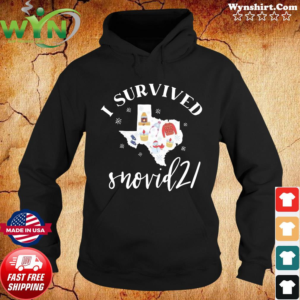 Survived Snovid 21 Texas Strong Shirt, Snow Storm 2021, Winter Texas Shirt Hoodie