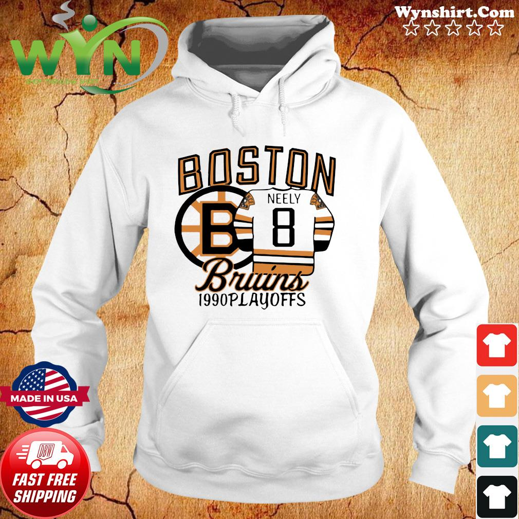 The Bruins 1990 Playoffs Boston 8 Neely Shirt Hoodie