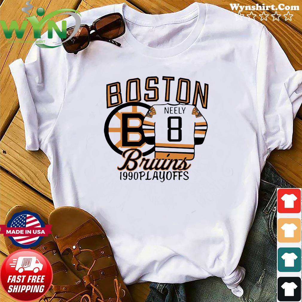 The Bruins 1990 Playoffs Boston 8 Neely Shirt
