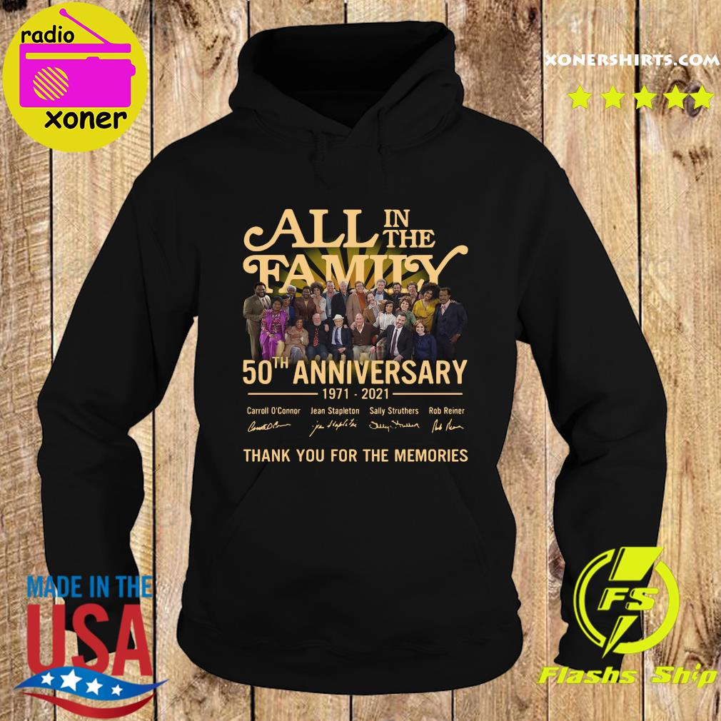 Thank You For The Memories Of All In The Family 50th Anniversary 1971 2021 Signatures Shirt Hoodie