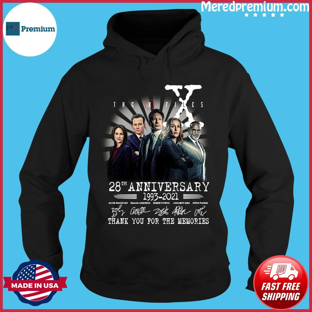 The X Files 28th Anniversary 1993 2021 Thank You For The Memories Signatures Shirt Hoodie