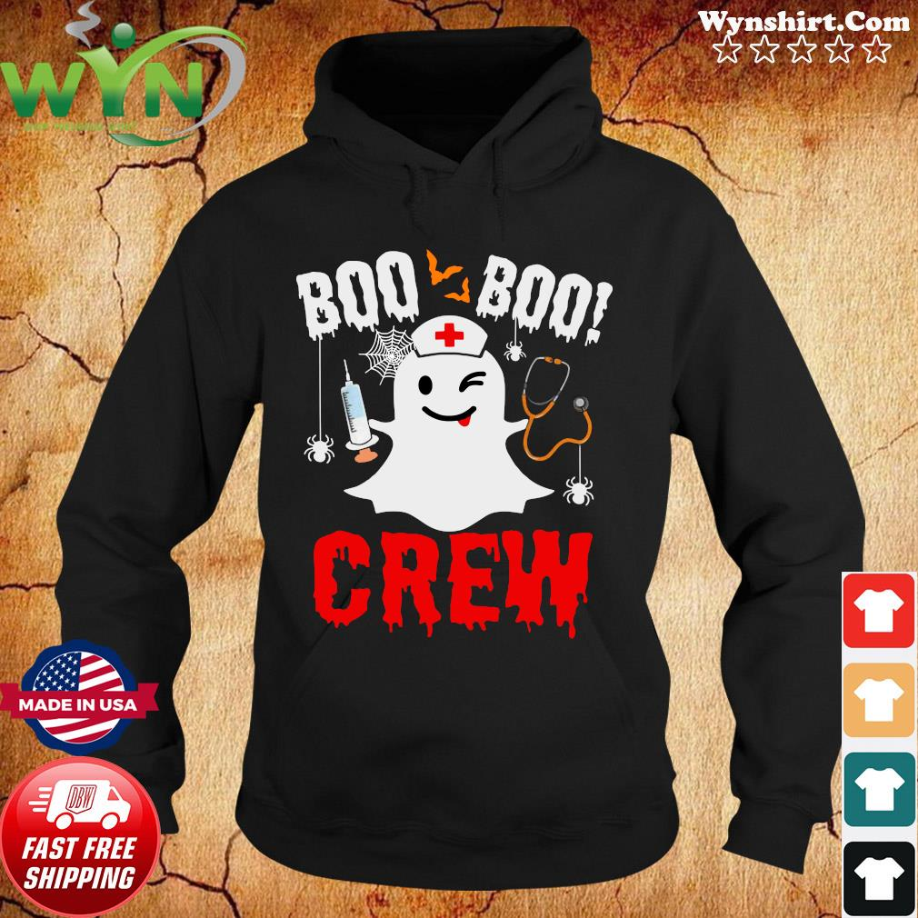2020 Is Boo Sheet Very Bad Would Not Recommend Boo Boo Crew Halloween Ghost Nurse s Hoodie