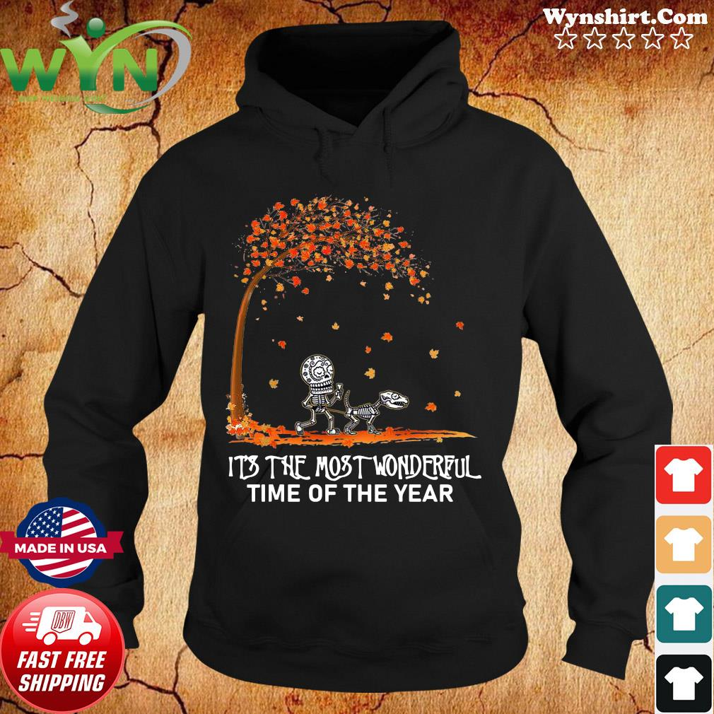 Autumn Halloween It's The Most Wonderful Time Of Year Shirt Hoodie