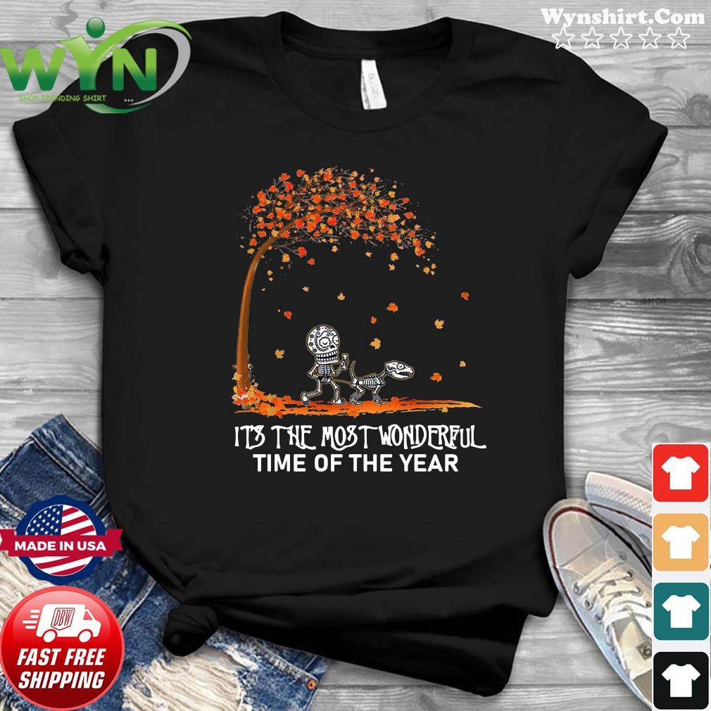 Autumn Halloween It's The Most Wonderful Time Of Year Shirt