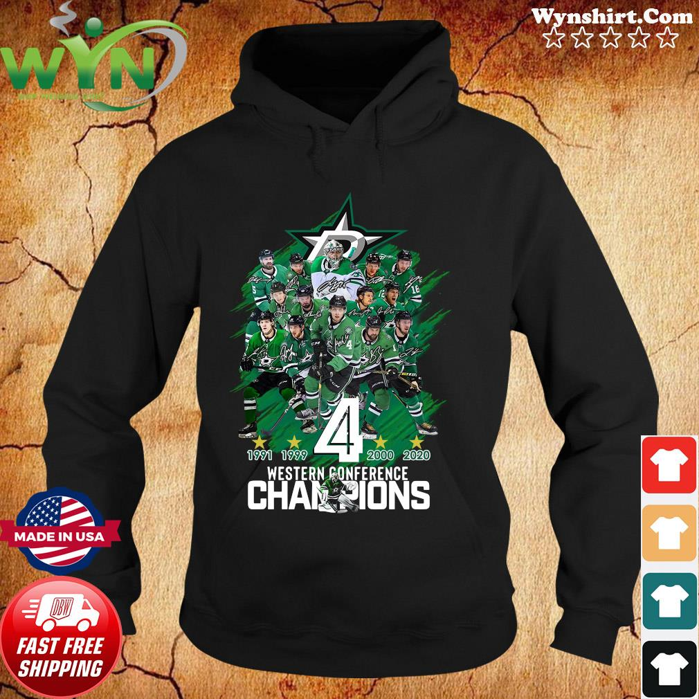 Dallas Stars player Western Conference Champions signatures s Hoodie