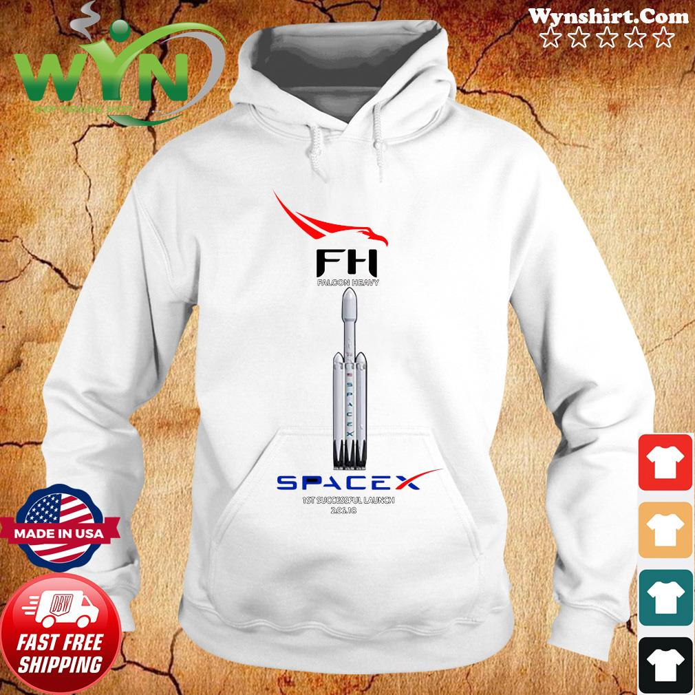 Fh Falcon Heavy Spacex 1st Successful Launch Shirt Hoodie