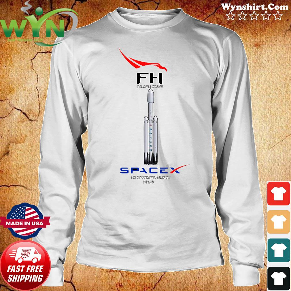 Fh Falcon Heavy Spacex 1st Successful Launch Shirt Long Sweater