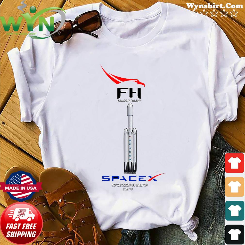 Fh Falcon Heavy Spacex 1st Successful Launch Shirt