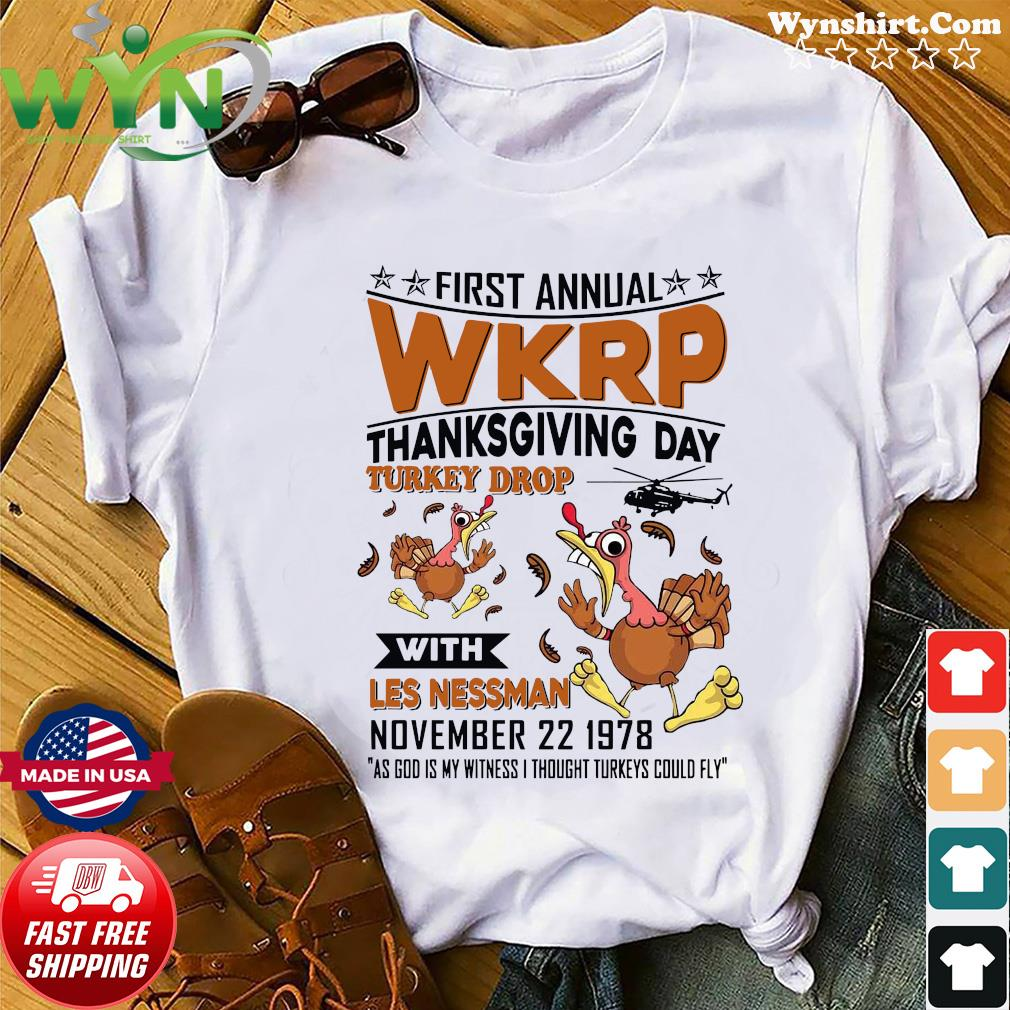 First Annual Wkrp Thanksgiving Day Turkey Drop With Les Nessman November 22 19978 Shirt