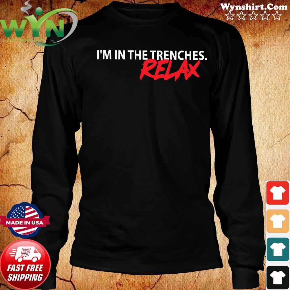 I'm In The Trenches Relax Shirt Long Sweater