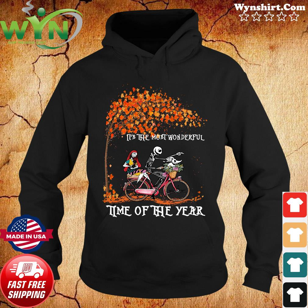 Jack Skellington Sally And Zero It's The Most Wonderful Time Of The Year Halloween Shirt Hoodie