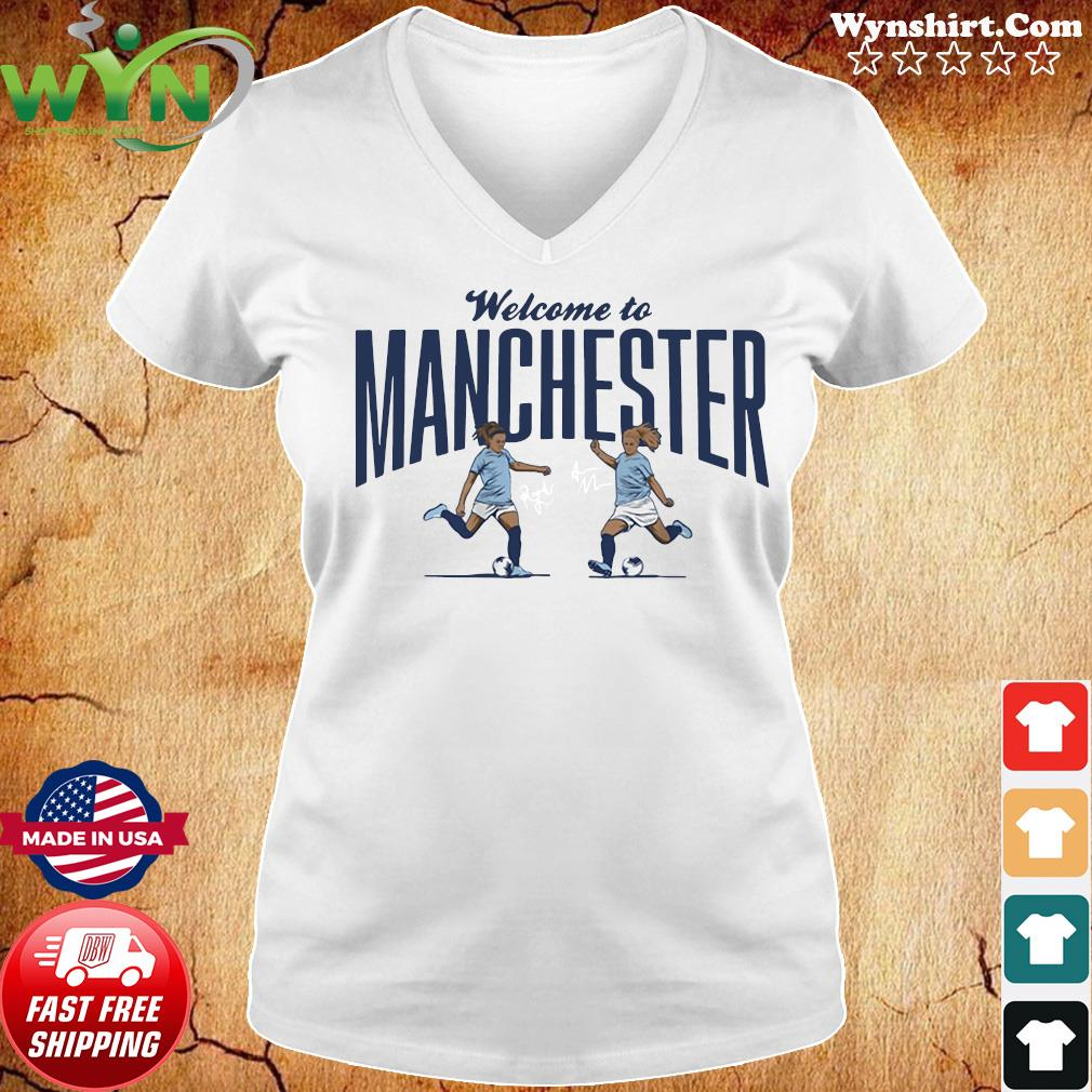 Lavelle & Mewis Welcome to Manchester Official T-Shirt Ladies tee