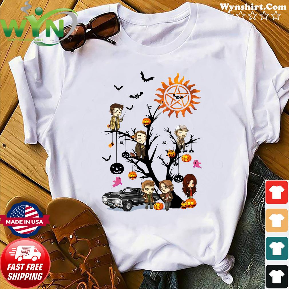 Supernatural Tree Halloween Pumpkin Shirt