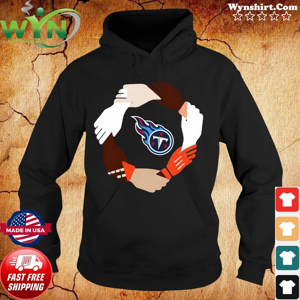 Tennessee Titans Hand By Hand Shirt Hoodie