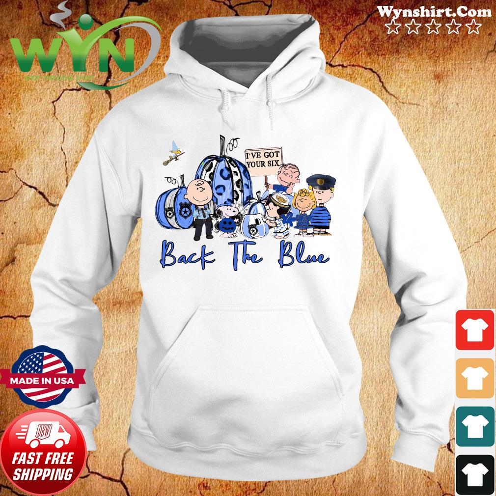 The Charlie Brown And Snoopy I've Got Your Six Back The Blue Halloween Shirt Hoodie