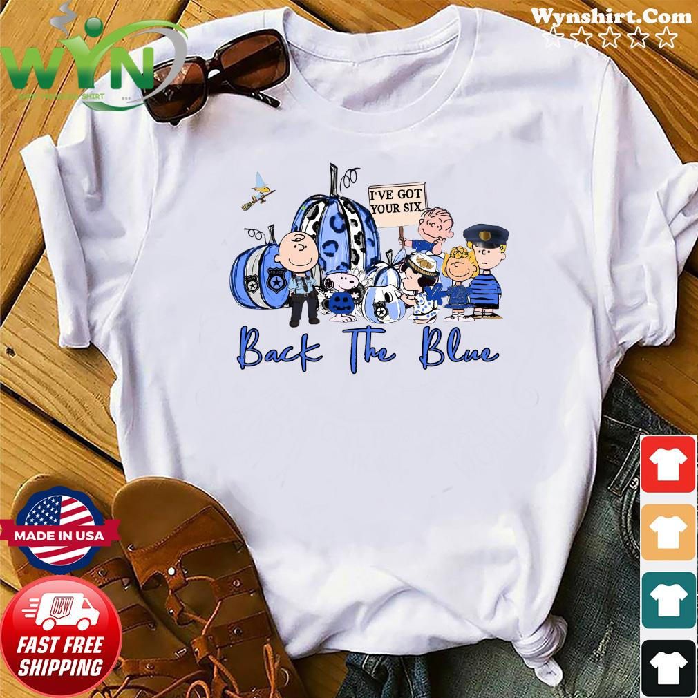 The Charlie Brown And Snoopy I've Got Your Six Back The Blue Halloween Shirt