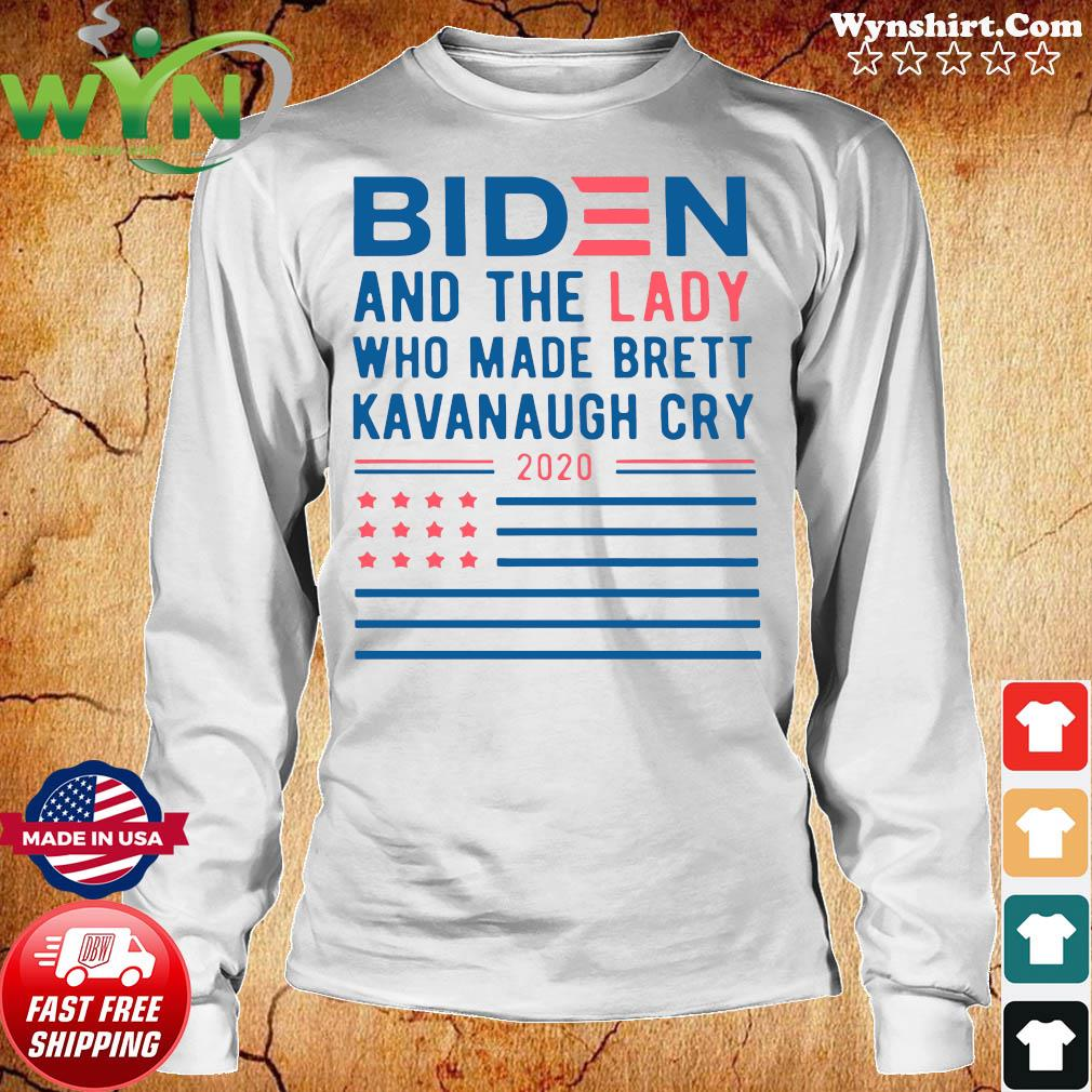 Biden And The Lady Who Made Brett Kavanaugh Cry 2020 T-s Long Sweater