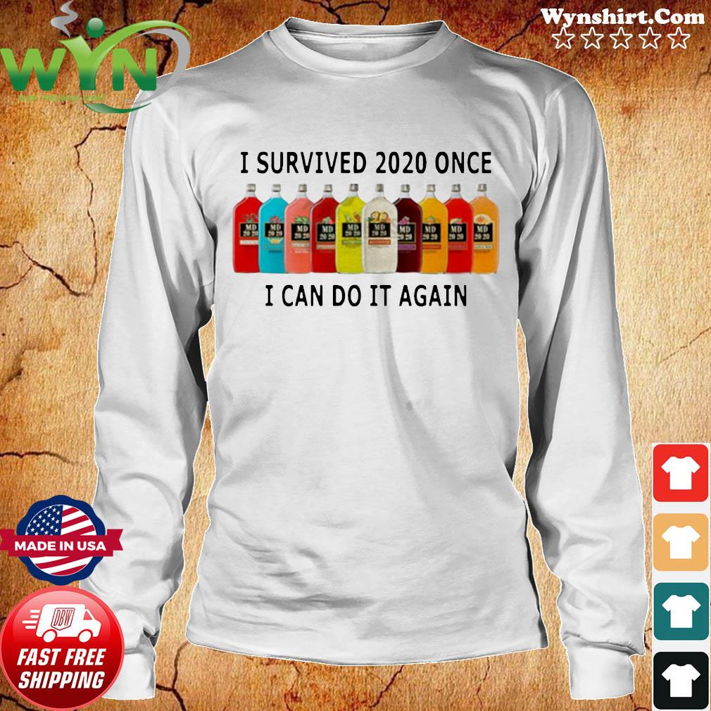 I Survived 2020 I Can Do It Again Shirt Long Sweater