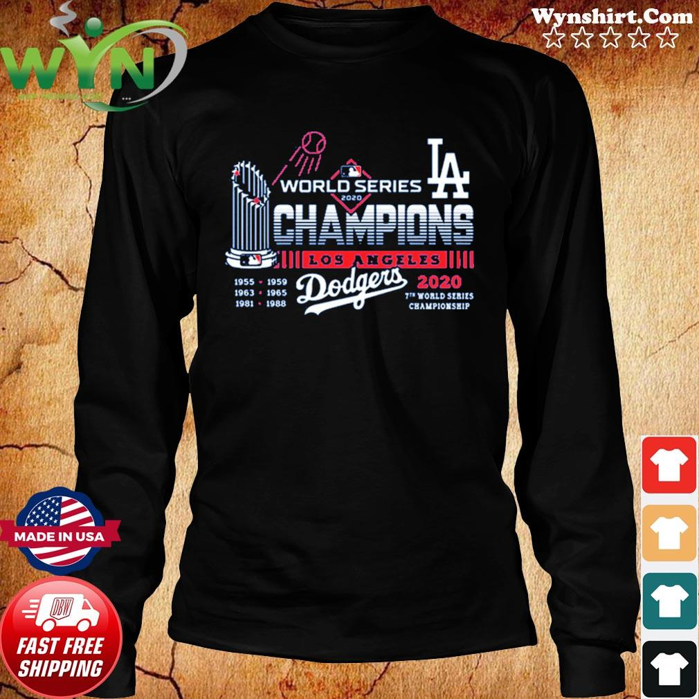 Los Angeles Dodgers 2020 World Series Champions Shirt – LA 7th championship T-Shirt Long Sweater