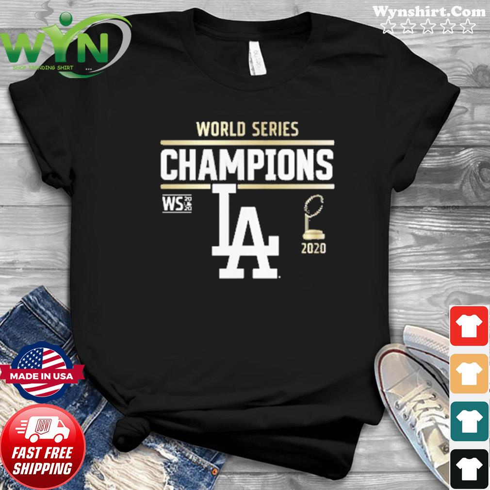 Los Angeles Dodgers 2020 World Series Champions Signature Roster T-Shirt