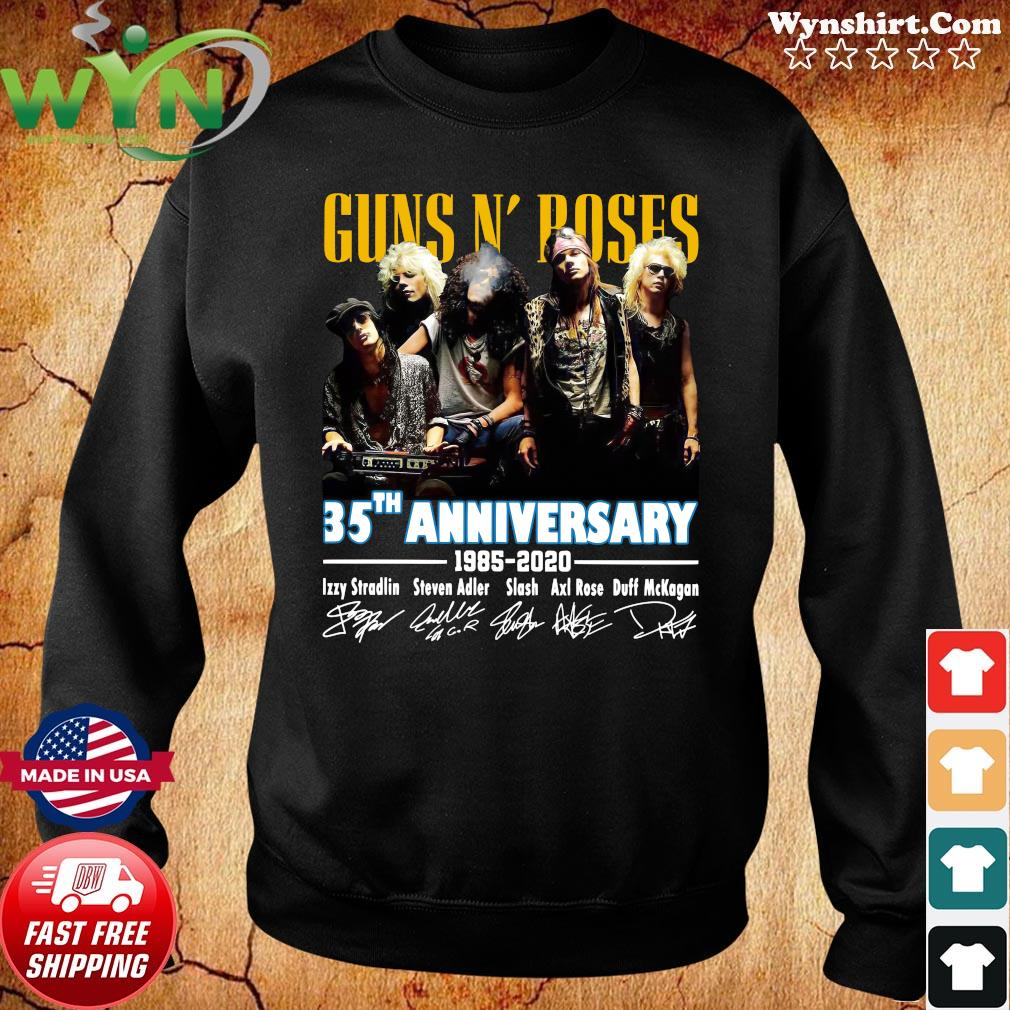 Official Guns N' Roses 35th Anniversary 1985 2020 Signatures Shirt Sweater