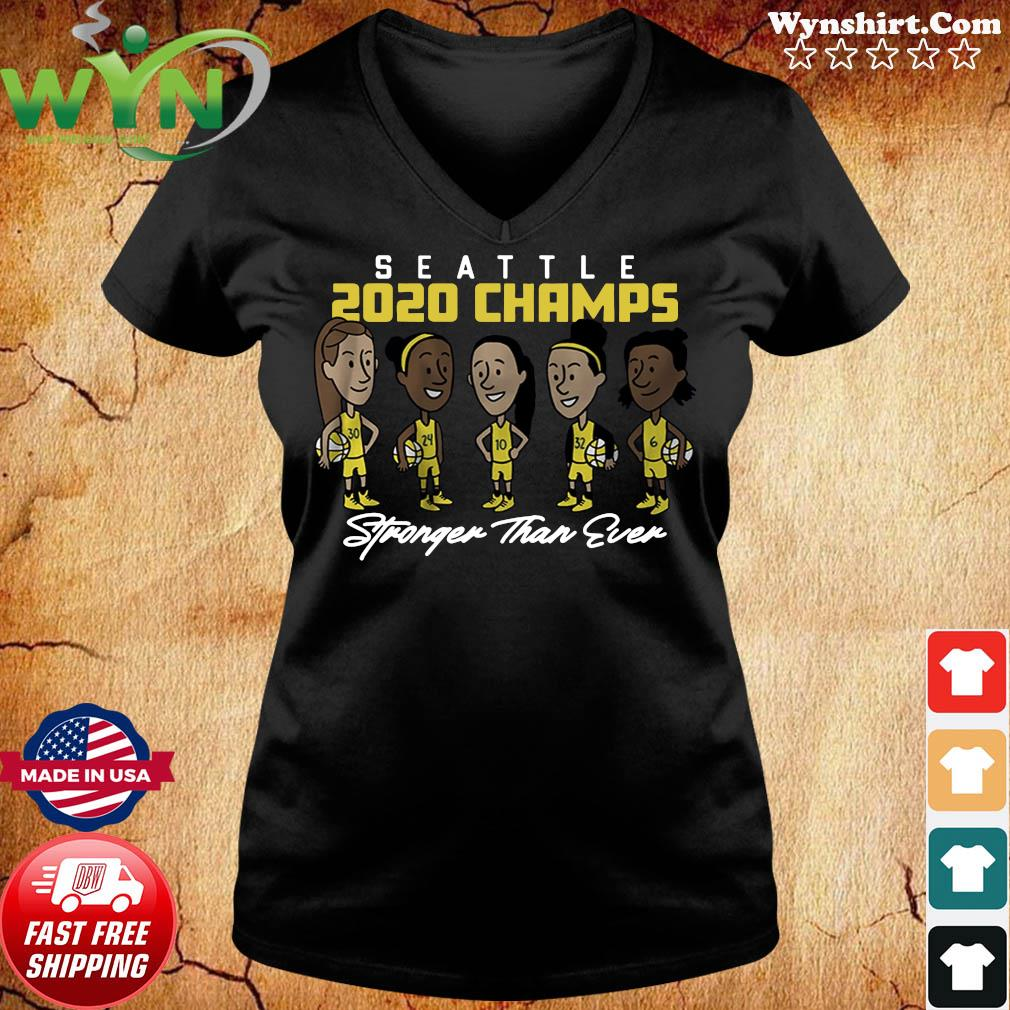 Stronger Than Ever Champs Seattle Shirt ladies tee