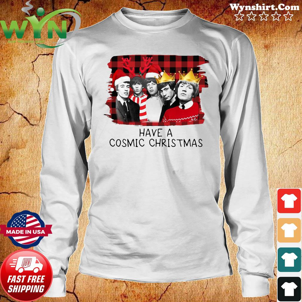 The Rolling Stones Have A Cosmic Christmas Sweats Long Sweater