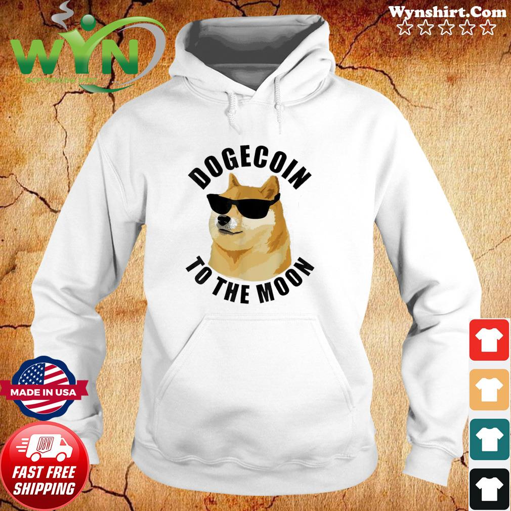Dogecoin To The Moon Crypto HODL Cryptocurrency Classic T-Shirts Hoodie